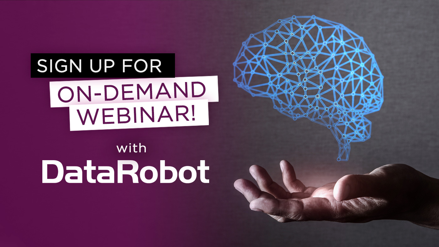 On demand webinar DataRobot